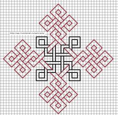 Black-and-Redwork Celtic cross design Blackwork Patterns, Celtic Patterns, Celtic Designs, Zentangle Patterns, Cross Stitch Patterns, Quilt Patterns, Kasuti Embroidery, Embroidery Stitches, Embroidery Patterns