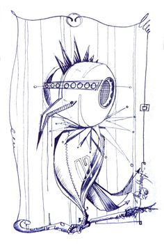 Electro Bird / the breakfast table session Artwork Prints, Sketches, Fantasy, Bird, Breakfast, Table, Drawings, Morning Coffee, Sketch