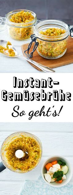 Instant-Gemüsebrühe selber machen – so geht's Completely without flavor enhancers and artificial flavors. Healthy Eating Tips, Healthy Drinks, Healthy Nutrition, Clean Eating, Onion Recipes, Veggie Recipes, Cooking Recipes, Healthy Recipes, Cuisines Diy