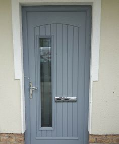 Palladio Rome door finished in the new silver color. Silver Color, Rome, Garage Doors, Outdoor Decor, Home Decor, Doors, Post Box, Silver Paint, Rum