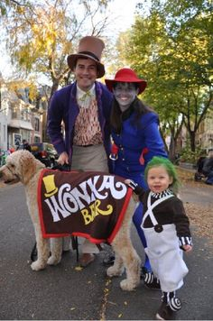 Family costume idea: Charlie and the chocolate factory. Baby as ompalompa?