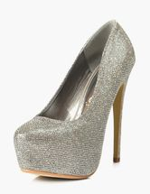 Gray Pointed Toe Glitter Sequined Cloth Platform Pumps. Enjoy unbeatable discounts up to 70% Off at Milanoo using Coupon & Promo Codes.