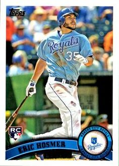 2011 Topps Updates and Highlights Eric Hosmer Rookie Card   A former Blue Rock, all grown up