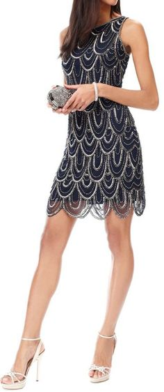 Scalloped #sequin #dress #holiday