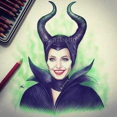 Maleficent drawing for Angie's birthday