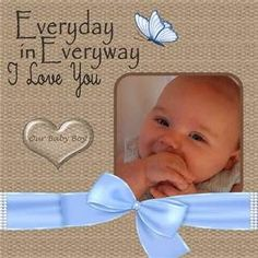 Baby Boy Scrapbook Layouts - Bing Images #babyscrapbooks