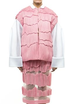 pink jacket and skirt by Atelier Kikala #fashion