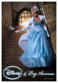 We guarantee that this Womens Disney Deluxe Cinderella won't disappear by midnight! This ball gown length dress is sure to make all your (and Cinderella's) dreams come true.