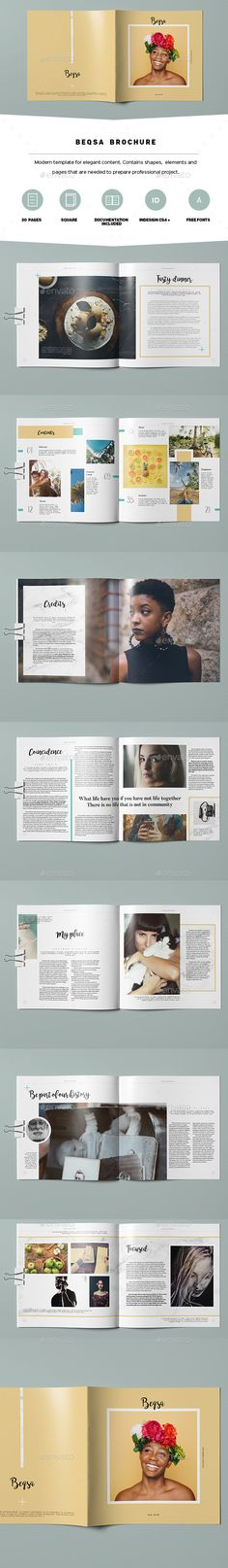 Beqsa Brochure Template InDesign INDD