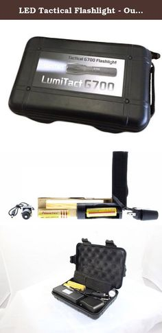 LED Tactical Flashlight - Outdoor Flashlight - Adjustable Focus, Water Resistant, Multi-Switch Aircraft Grade Aluminum LumiTact Tactical G700 TM Flashlight (Recharge Kit). Product Description 1 Car Charger 1 wall charger 2 Lithium Ion Rechargeable Batteries. The light only uses one at a time. Holster for your belt All comes in solid case for easy storage Battery Specifications Battery Type: 18650 Rechargeable Battery Capacity:3600mAh Voltage: 3.7V Material: Lithium Charge Time: about...