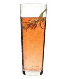 Rosemary-Rosé Spritzer recipe:   A homemade rosemary syrup elevates these sparkling sippers.
