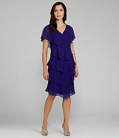 ShopStyle: Patra Tiered Georgette Dress