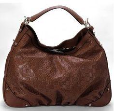 c92e7f6f313 Gucci Jockey Guccissima Hobo Bag 203542 Brown