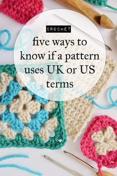 How to know if a crochet pattern uses UK or US terms @craftingfingers