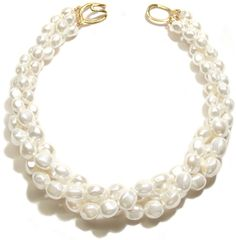 Helga Wagner Twisted Mother of Pearl Nugget Necklace with tiffany clasp.