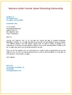 business organization letter format letter template pinterest