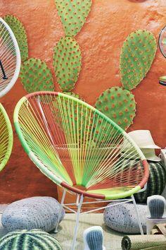 """La Chaise Longue """"Acapulco Chair"""" #MO16 #maisonobjet #design #inspiration #outdoor #colorful #cactus #LaChaiseLongue #design"""