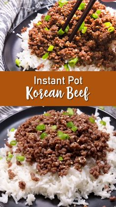 Korean Beef is so delicious, and so easy to make! And it just got easier because you make this ground beef recipe with the pressure cooker. Yum!