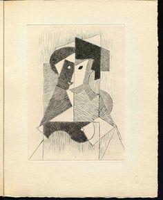 Sin Título, 1946. Punta seca de Jean Metzinger en la exposición 'Gleizes y Metzinger: Du Cubisme (1912)' de la Fundación Juan March. Imagen © Vegap, Madrid, 2015.