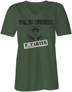 Agent Carter Inspired Women's V Neck Tee