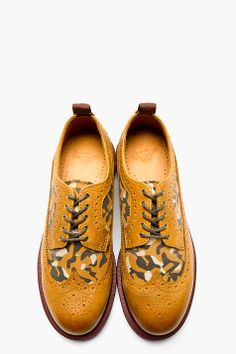 DR. MARTENS Tan Leather Shreeves Longwing Brogues