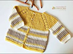 SAQUITO a crochet para bebe de 3 a 6 meses -La Magia del Crochet- - YouTube