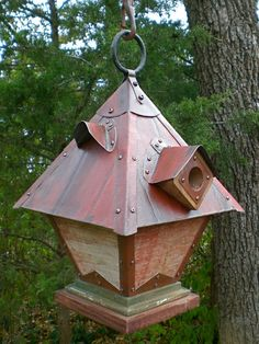 The Diving Bell: Arts and Crafts/Mission Style Birdhouse From Reclaimed Barn…