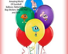 Amazing world of gumball toppers Gumball and darwin cupcakes