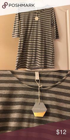 3/4 sleeve cotton maternity tunic Cute 3/4 sleeve lightweight maternity tunic. Brand new!! Pinkblush Tops Tunics