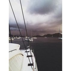 Just a little rain storm on Cooper Island. #bvi