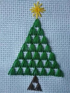 Basic Embroidery Stitches, Paper Embroidery, Embroidery Designs, Cross Stitch Borders, Cross Stitch Patterns, Crochet Patterns, Xmas Crafts, Diy And Crafts, Sewing Cards