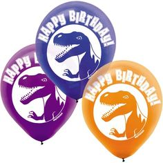 Check out Dinosaur Party Latex Balloons - Dinosaur Party Supplies from Birthday In A Box