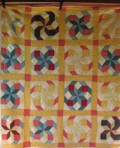 Spectacular 1930's TUMBLING BLOCKS STAR Antique Vintage Quilt ~ COLORFUL | eBay