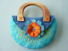 felted purse (bag) - wet felting