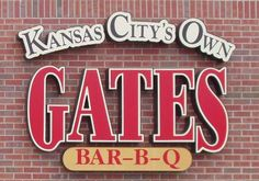 Gates Bar-B-Q is an old Kansas City, Missouri BBQ chain with 6 locations in the metro area, including this one in Leawood and one in Kansas City, Kansas. The first Gates Bar-B-Q opened as Gates Ol' Kentucky at & Vine in Kansas City, Missouri in Bbq Kansas City, Kansas City Missouri, Bbq Pro, Barbecue Restaurant, Bar B Q, Best Bbq, Places To Eat, Leawood Kansas, Restaurants