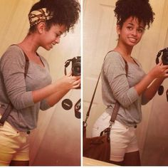 natural hair style ideas for spring - how to wear a scarf updo - natural hair blog
