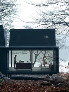 """wetheurban: """" DESIGN: The Vipp Shelter House goals. The Vipp Shelter is a minimalist prefab concept located in Copenhagen, designed by Danish design company Vipp. A 55 square meter steel object. Prefabricated Houses, Prefab Homes, Prefab Cottages, Prefab Cabins, Small Cottages, Container Architecture, House Architecture, Beautiful Architecture, Landscape Architecture"""