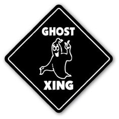 """GHOST CROSSING Sign novelty gift halloween casper by ZANYSIGNS. $8.95. Top Quality Sign. Perfect Gift Idea!!!. Proudly Made In the U.S.A.. Brand New. Perfect for Indoor or Outdoor. This is a brand new 12"""" tall and 12"""" wide diamond shape sign made from weatherproof plastic with premium grade vinyl. The sign is perfect for indoor or outdoor use, made to last at least 3-4 years outside. The sign has rounded corners and a 1 hole pre-drilled for easy mounting. These signs..."""