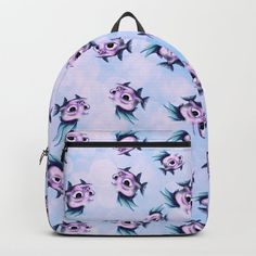 Fish Backpack by chaploart | Society6
