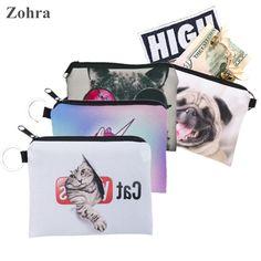 Zohra Cat Pug Animal Digital Printing Coin Purse Women Bag Wallets Girl Coin Purse Men Wallet Carteira Monederos porte monnaie♦️ SMS - F A S H I O N  http://www.sms.hr/products/zohra-cat-pug-animal-digital-printing-coin-purse-women-bag-wallets-girl-coin-purse-men-wallet-carteira-monederos-porte-monnaie/ US $1.45
