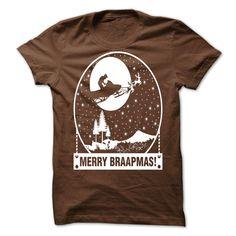 View images & photos of Merry Braapmas Christmas Santa Snowmobile t-shirts & hoodies