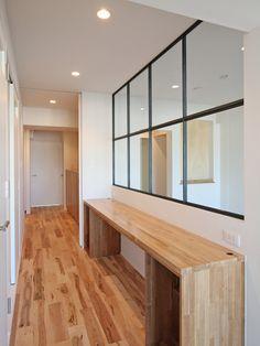 WINDOW/窓/室内窓/アイアン/木枠/格子/パーテーション/design by フィールドガレージ /リノベーション