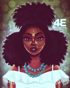 Festival Vibes Art Print by foreverestherr Black Love Art, Black Girl Art, Black Girls, Art Girl, Black Women, Girl Artist, Black Artwork, Cool Artwork, African American Art