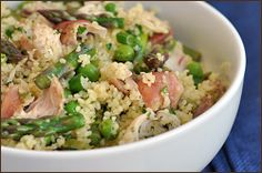 Spring Vegetable Couscous with Chicken - can Spring get here soon enough????