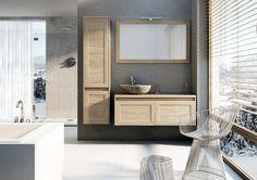 De Elements badmeubellijn brengt u een compleet andere sfeer. Landelijk, rustiek... dat past in een warm interieur.  Het meubel is daarom ook uitsluitend leverbaar in een aantal warme houtdessins en kan gecombineerd worden met een van onze fraaie keramische waskommen. Wilt u er een echte eyecatcher van maken, denk dan eens aan de basaltrock waskom. Daarmee haalt u echt letterlijk de natuur in huis.