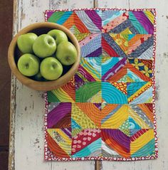 I love the way the quilting creates circles that are not present in the piecing.