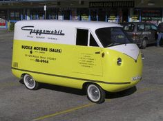 An Australian-made  Goggomobil Carry All van.