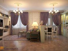 Просторная кухня-гостиная в английском стиле на Гжатской улице / living room / living room paint / living room decor / living room interior design / by Pevel Polinov Studio #design #interior #homedecor #interiordesign