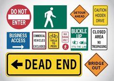 15+ Traffic Signs Vector Illustration #traffic #signs #vector #illustrations