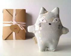 stuffed fabric cats